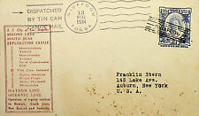 TOGA 1934 2½d ON TINCAN CANOE MAIL COVER TO US