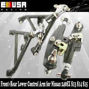 For 240SX 1989-1994 S13 1995-1998 S14 F&R  Adj. Lower Control Arms Deep Green