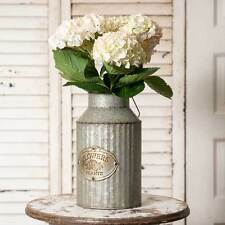 """Galvanized Milk Can-Floral Container-French Country Farmhouse-12""""T"""