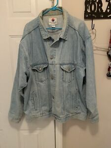 Vintage Pepsi Denim Jacket Size 2XL XXL Light Wash