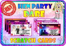 Hen Party Dare Cards Hen Night Tour Scratch Cards Funny Dare Scratchcards gift