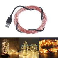 10m 100 LED USB Copper Wire String Fairy Lights Christmas Party Lamp Decor