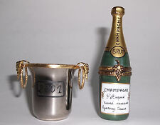 Limoges France Champagne Brut Bottle in Ice Bucket Signed Pierre ArquiÉ Retired