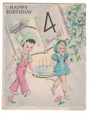 Vintage BAPCo Birthday Card - Card for a 4 Year Old  GC