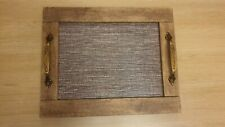 Rectangular Wooden Serving / Decorative Tray with Handle, Maple wood