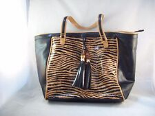 SR2 Sondra Roberts Large Faux Leather Animal Print Tote