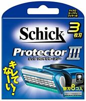 Schick Protector Three 3 Blade Blades 8 Pieces NEW from Japan