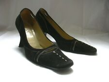 PRADA  WOMAN SUEDE HEELS SHOES  SZ  EU 35 1/5 US 5 1/2