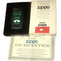 Vintage 1960's AVATAR Advertising Zippo Knife In Original Box GM Products.8 Cyl