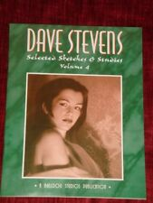 DAVE STEVENS Selected Sketches VOL 4 ~ HAND SIGNED #29 ~ SEXY NUDES & MORE 2005 Comic Art