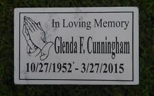 New 00004000  listing Custom Engraved Granite/Marble Headstone Grave Marker Plaque Memorial Pray 1