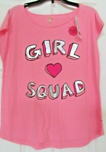 """NWT girls Total girl 20.5 Pink sleeveless """"Girl Squad"""" Hi lo top blouse"""
