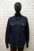 Giubbino Jeans GAS Donna Taglia Size S Giubbotto Giacca Jacket Woman Cotone Blu