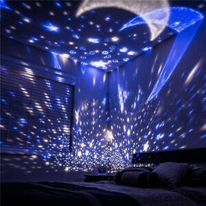 Rotating LED Star moon Sensory Relaxing light Projector Lamp Kids