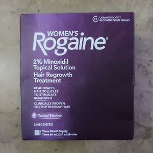 Women's ROGAINE 2% Minoxidil Topical Solution Hair Regrowth Treatment Exp 2026