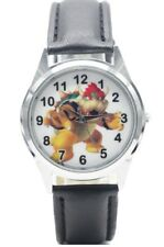 Super Mario Bowser Character Genuine Leather Band WRIST WATCH
