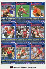 2006 AFL Teamcoach Tradinging Card Blue Platinum Team Set Melbourne (9)