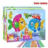 Kunst-Aufkleber Mosaik Craft Kinder Educational Puzzle Diamant Toy Kit X5J9 H8I5