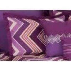 Rizzy Home Pink Purple Chevron Abstract Geo Pillow Sham