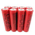 8X 18650 Li-ion 3.7V-4.2V 6000mAh Rechargeable Battery For Flashlight Torch LED