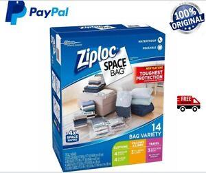 Ziploc Space Bag 14 Piece Bag Space Saver Bags Ziplock Storage Set Brand New