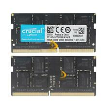 Crucial 2x 16GB 2RX8 DDR4-2666V PC4-21300 CL19 SO-DIMM Laptop Memory RAM 32GB ##
