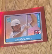 London Olympic 2012 Official Panini Sticker David Florence foil 168