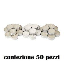 ds Set 50 Pezzi Candele Bianche Tealight Lumini moc