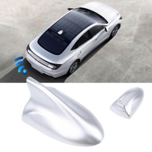 Silver Car Shark Fin Antenna Roof Radio AM/FM Aerial Cover Universal For Honda