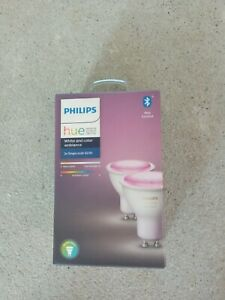 Philips Hue White and Colour GU10 Smart Bulb - Twin Pack