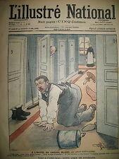 L'ILLUSTRé NATIONAL N° 50 HUMOUR CARICATURE HOTEL DESSINS HUARD GUILLAUME 1903