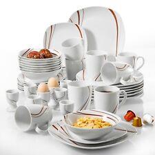Tafelservice 'Bonnie' Porzellan 40 teilig Teller Set Frühstückservice 8 Personen