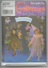 DAISY KINGDOM CHILDS COSTUME DRESSES HATS SEWING PATTERN SZ 3-8 SIMPLICITY 4938