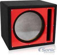 "Belva BBX110RD Single 10"" Car Audio Ported Subwoofer Box Enclosure w/ Red Baffle"