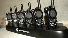 6 MOTOROLA CLS1110 2 WAY RADIOS UHF WITH GANG CHARGER + 90 DAY WARRANTY