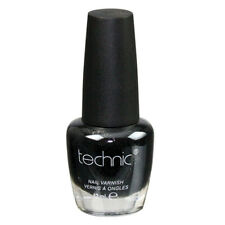Technic Nail Polish - Black Velvet Glossy Bright Colour Nails Varnish Dark Toes