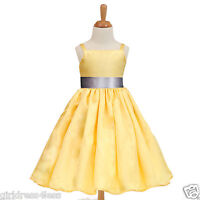 Yellow Spaghetti Straps Easter Flower Girl Dress 12M 18M 24M 2 4/4T 6/6X 8 10 12