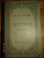 Lettres choisies - Madame de Sévigné  1902