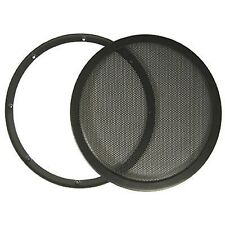 "12"" DJ Car Speaker Steel Mesh 2 Piece Sub Woofer Subwoofer Grill New Metal"