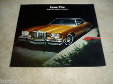 1974 Pontiac Grand Ville convertible sales brochure dealer folder literature