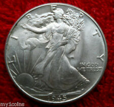 1945 WALKING LIBERTY HALF DOLLAR CH/GEM BU-GREAT EYE APPEAL-CARTWHEEL LUSTRE