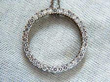 CIRCLE DIAMOND NECKLACE 1.50ct 14KT G/VS ROUNDS 16 INCH 1.02 INCH DIAMETER
