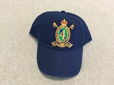 """NWT POLO RALPH LAUREN Mens Blue Embroidered """"4"""" Crest Patch Cap Hat One Size New"""