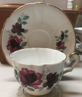 Vintage Royal Eton Staffordshire England Fine Bone China Tea Cup Saucer