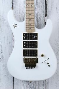 Kramer Icon Collection Jersey Star Electric Guitar Alpine White with Gold