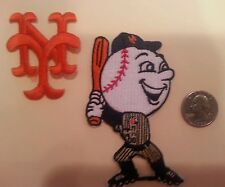 (2)  New York Mets vintage patches patch  lot MR. MET & Interlocking NY