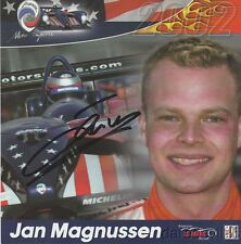 2002 Jan Magnussen signed Panoz Motorsports LMP01 Evo-Élan LMP900 ALMS postcard