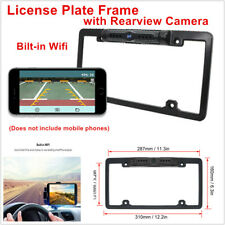 1x Wireless HD WiFi Car License Plate w/ Backup Rearview Camera LED Night Vision