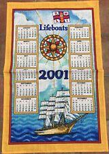 Vintage 2001 Lifeboats Tea Towel