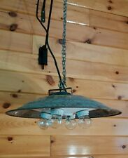 Antique Industrial hanging Ceiling light/Lamp, Mid Century Steam Punk, UFO Shape